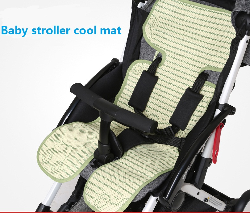 Summer Baby Push Cart Cool Cushion Infant Stroller Linum Cool Mat Kids Buggy Bear Bamboo Charcoal Breathable Cool Sleeping Pad