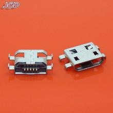 цена на JCD Type B Micro USB 5 Pin Female Charger Mount Jack Connector Port Socket 5Pin Micro USB Connector PCB Socket Micro USB Jack