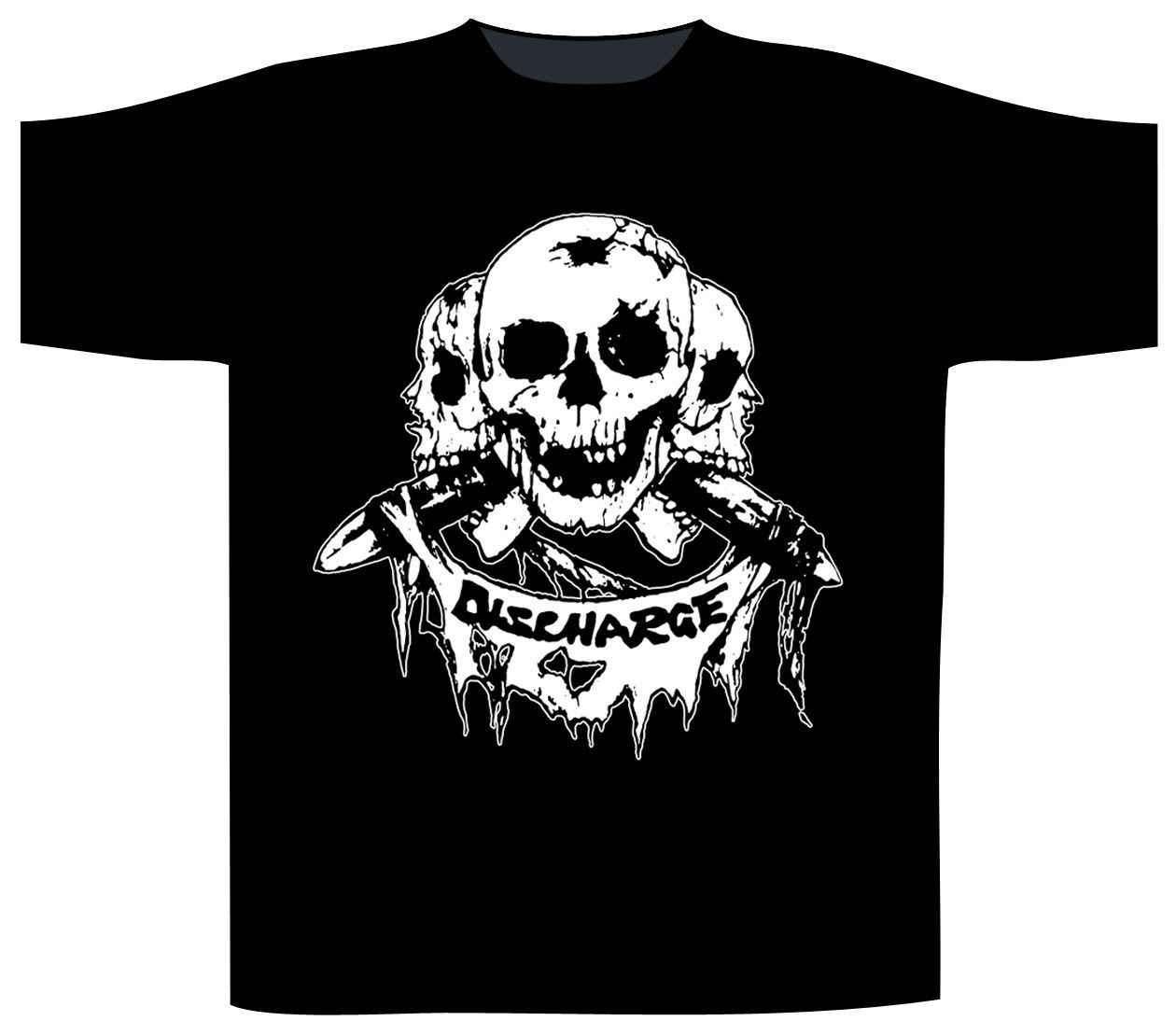 Décharge T-Shirt 'crâne Logo'-nouveau & officiel été décontracté homme T-Shirt bonne qualité top T-Shirt couleur drôle imprimé