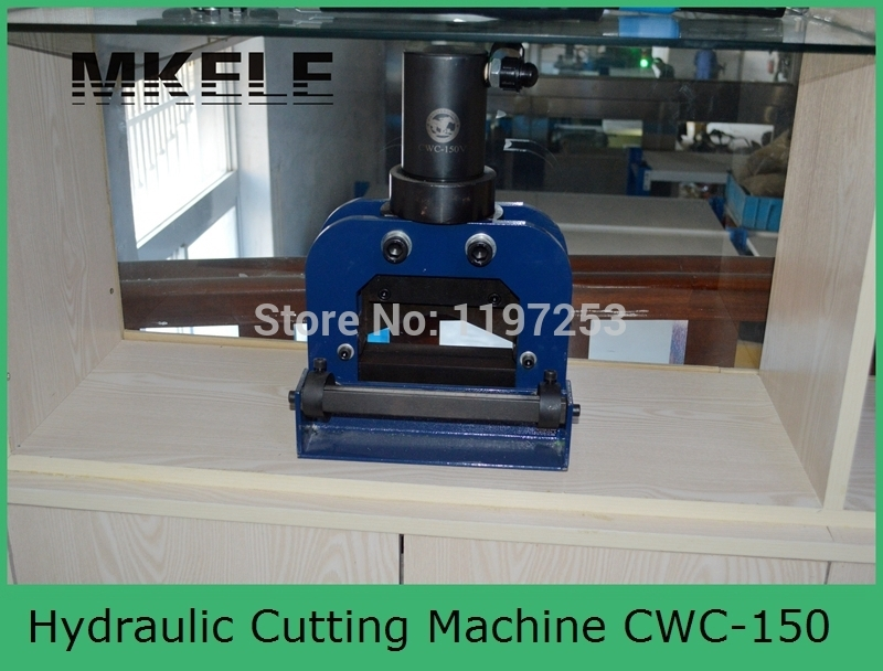 High Quality MK-CWC-150V Hydraulic Busbar Cutter Copper Cutting Machine With 150*10mm  And Aluminum Clamp China high quality mk xlj g 32a hydraulic hose cutter hydraulic swaging tool hydraulic wire rope cutter from china mfr clamp