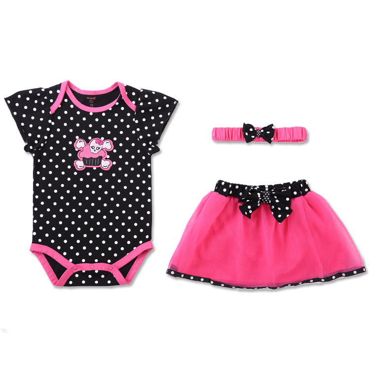 2016 baby boy crawling beautiful girl leotard Kazakhstan clothing dress three sets of clothes skirt headband