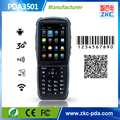 Android Handheld qr code Scanner with rfid reader , 3.5inch Touch Screen pda barcode scanner with 3G WIFI Bluetooth PSAM
