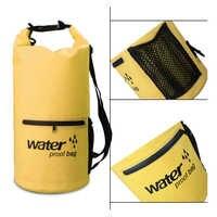 PVC 5L 10L 20L Outdoor Waterproof Bag Dry Bag Swimming Bag Sack Storage for Travelling Rafting Boating Kayaking Canoeing