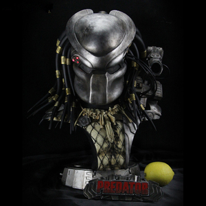 Image 1 - Cool ! White model Predator 1/2 Iron Fighter Statue Bust Decoration Statue Resin Hand Work Model Office Decoration