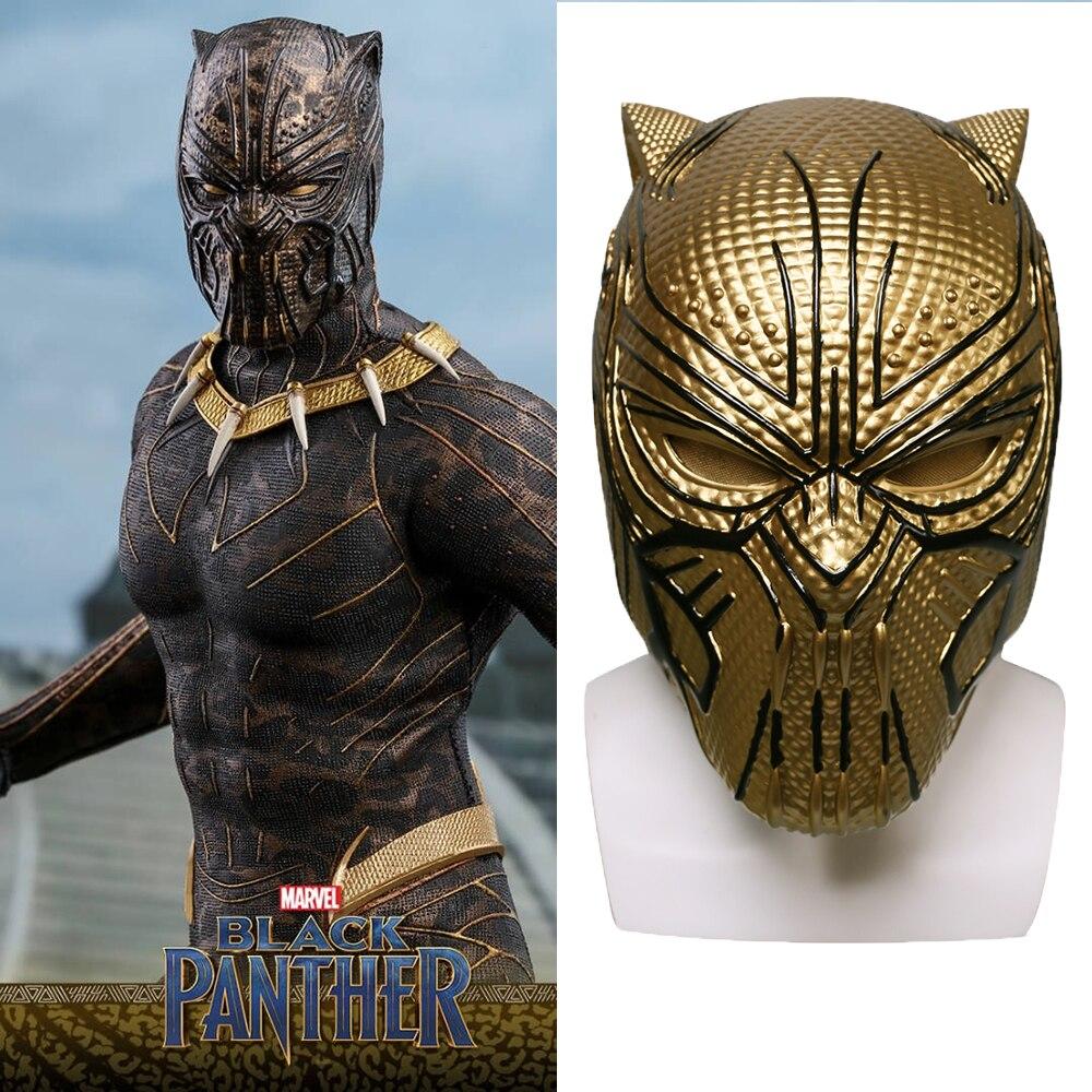 Здесь продается  2018 Black Panther Helmet  Leopard Gold Black Panther Superhero Helmet Props Halloween Party Prop  Одежда и аксессуары