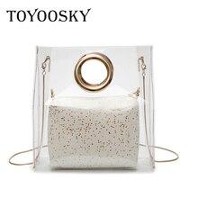 ¡STOCK liquidación! TOYOOSKY nuevas verano Cadena de hombro bolso de moda  de gran capacidad bolsos PVC jalea bolsa transparente 4f05b8683bc8