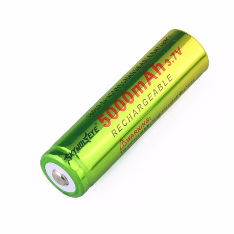 Bike Bicycle Light Battery 1x3.7V 18650 5000mAh Li-ion Rechargeable Battery For Flashlight lamp Torch A2