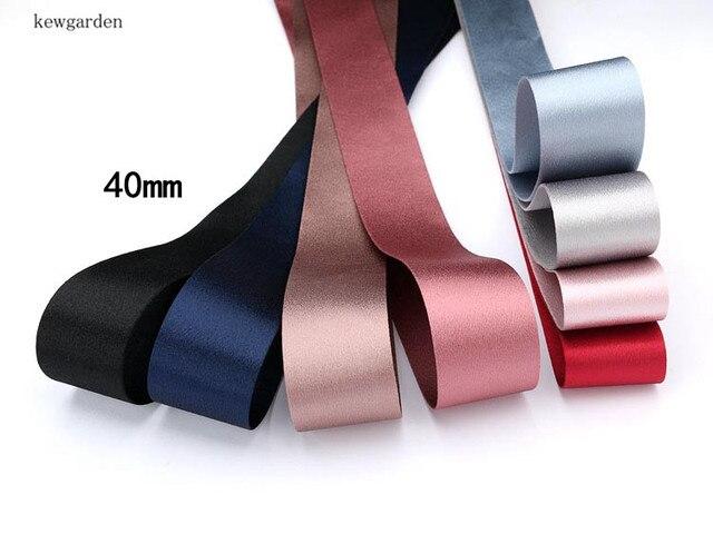 Kewgarden-rubans en tissu brillant | 40mm 1-1/2 pouces, ruban à nœud papillon fait main, accessoires bricolage, 4 M/Lot
