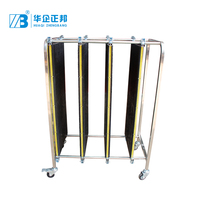 High Quality Antistatic PCB Turnover Cart ESD plates adjustable rack for SMT storage Trolley