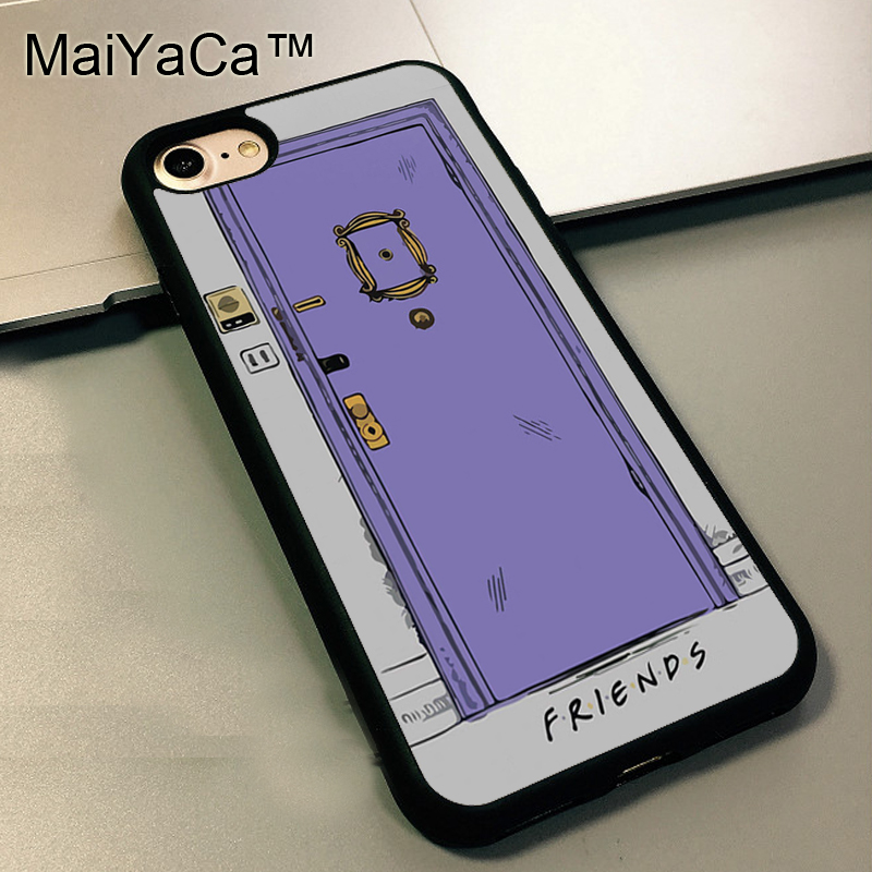MaiYaCa Friends Purple Door Design TPU Soft Rubber Skin Case Cover For Apple iphone 5 5s SE back shell For iphone SE