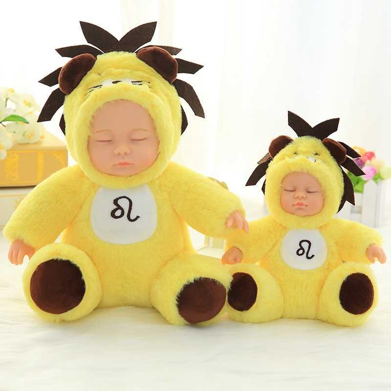Bonito Do Bebê Simulação Boneca de Pelúcia saco de Dormir Do Bebê Playmate Recheadas Brinquedos De Pelúcia Constelação Boneca Kids Brinquedos Presente Das Crianças Recém-nascidos