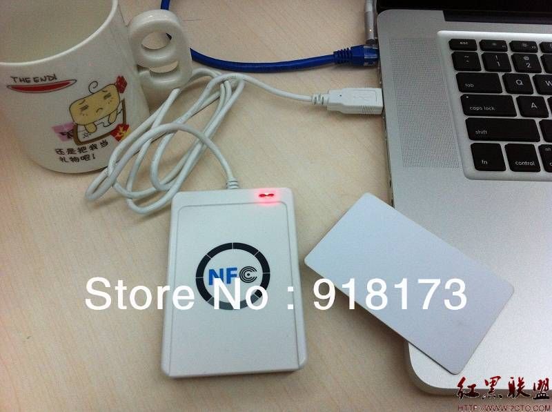 ФОТО USB ACR122U NFC RFID Smart Card Reader Writer For all 4 types of NFC (ISO/IEC18092) Tags + 10 pcs UID changeable Cards +1 SDK CD