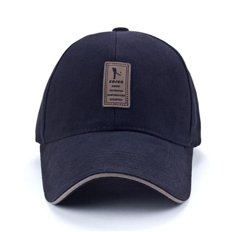84bff7e4a08 EDIKO And Golf Logo Cotton Baseball Cap Sports Golf Snapback Simple Solid  Hats For Men Bone Gorras Casquette Truck driver cap