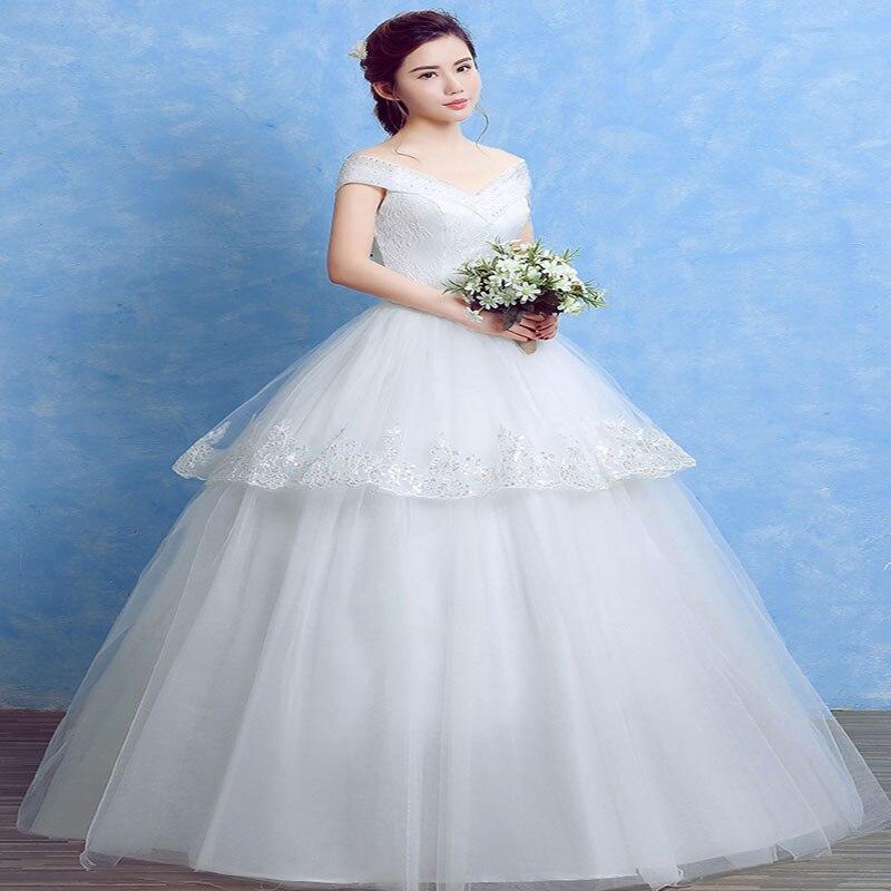 Velnosa Real Photo cheap White wedding dress 2017 Sweetheart Smiple ...