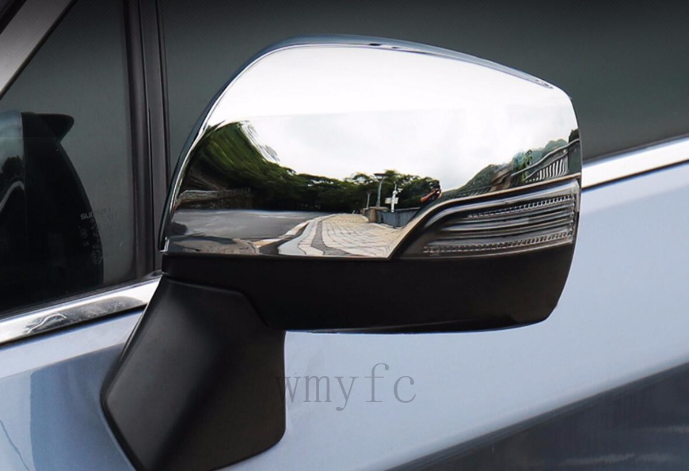 ABS chrome Side Rearview Mirror Cover Cap Trim For Subaru Forester 2013 2014 2015 2016 2017