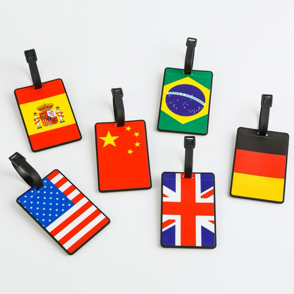 World Cup Soccer Football Fans Luggage Tag Silica Gel Suitcase Country Sign Holder Baggage Boarding Tags
