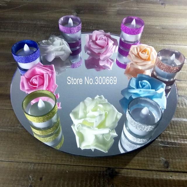 free shipping fee 30cm Diameters Wedding Decoration Round Mirror ...