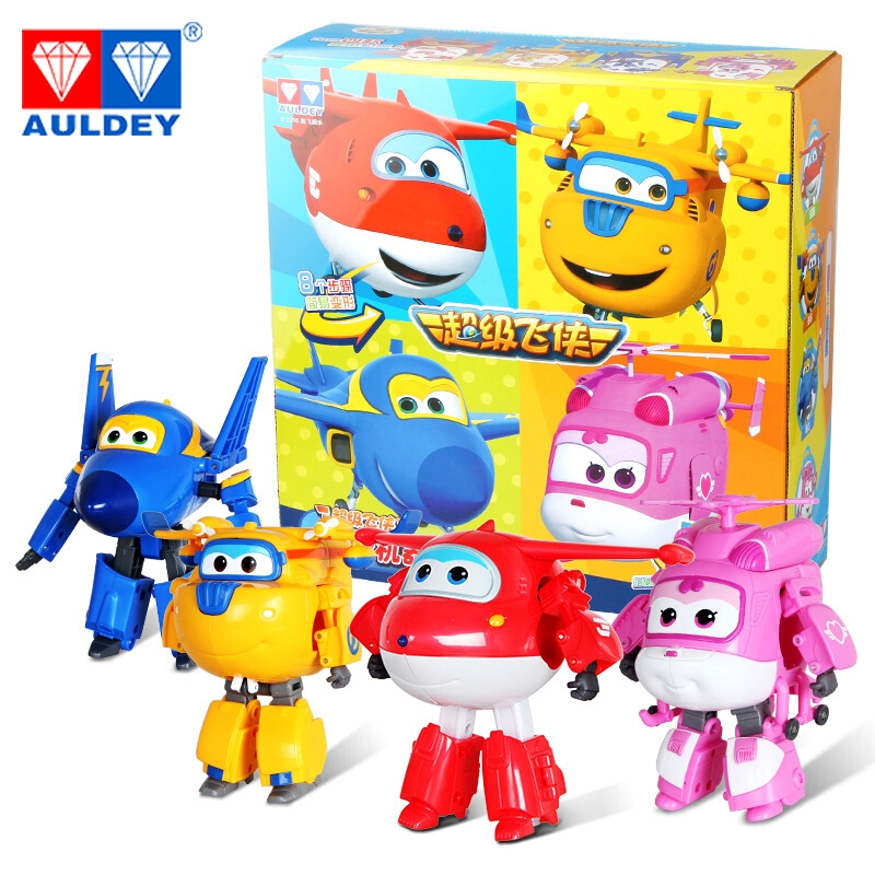 4pcs/set Big 15cm Super Wings High Quality Original JETT JEROME DIZZY DONNIE ASTRA MIRA Deformation Action Figures Toys Children newest 18pcs set super wings mini figures toys superwings jett airplane robot action figures birthday gift for kid brinquedos