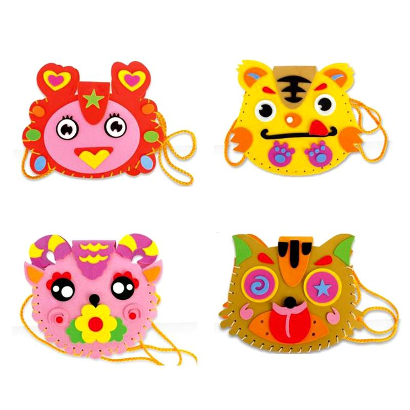DIY Handbags Cute Flower Style Bag Handmade Crafts Cartoon Sewing Backpacks Baby Kids Creative Funny Toys for Photo Frame