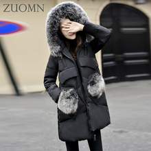 Women Winter Duck Down Jacket Long Coat Parkas Thickening Female Jackets Ladies Collar Hooded Thickening Down Coat Y330