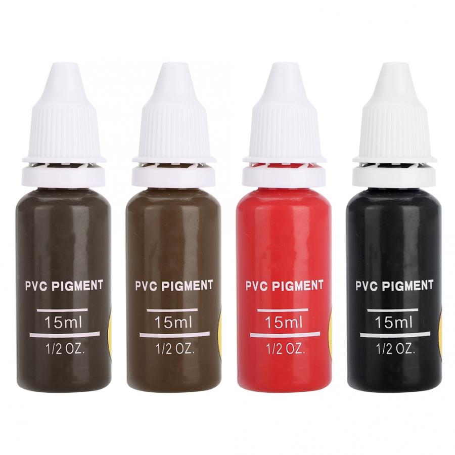 Image 2 - Tattoo Ink 4 Colors Tattoo Pigment Eyebrow Lip Eyeline Microblading Pigment Coloring Cream  Permanent Makeup Pigments-in Tattoo Inks from Beauty & Health