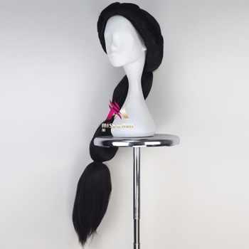 Halloween Jasmine Cosplay Wig Black Long Hair Aladdin and the Magic Lamp Role Play Halloween Braids Synthetic Hair