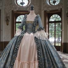 Колониальный грузинский 18thc Marie Antoinette день суд платье Рококо и Карнавал платья стимпанк викторианское платье
