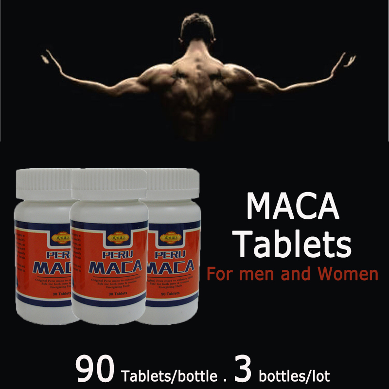 (3bottle/lot) 100% herb Dried Peru Maca root extract, Maca extract tablets, maca herbal tea, sex improvement, free shipping