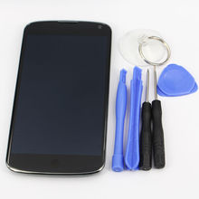 oem For LG Nexus 4 E960 Replacement LCD Display Touch Digitizer Screen With Frame Assembly +Tools kit Free shipping