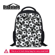 12 Inch Small Backpack For Little Boys Personalized Footballs Basketballs Kids School Bags Kindergarten Mochila Soccers