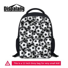 dc58bb5f5970 12 Inch Small Backpack For Little Boys Personalized Footballs Basketballs  Kids School Bags Kindergarten Mochila Soccers Rucksack