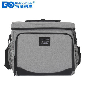 Image 1 - DENUONISS New Waterproof Cooler Bag Refrigerator Thermal bag Oxford 24 Can Large Capacity Thermos Bag Portable Fridge