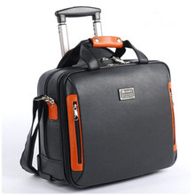 valiz bag  Suitcase computer travel bag Synthetic cowhide  commercial compute trolley case, new style, travel luggage, mute,16