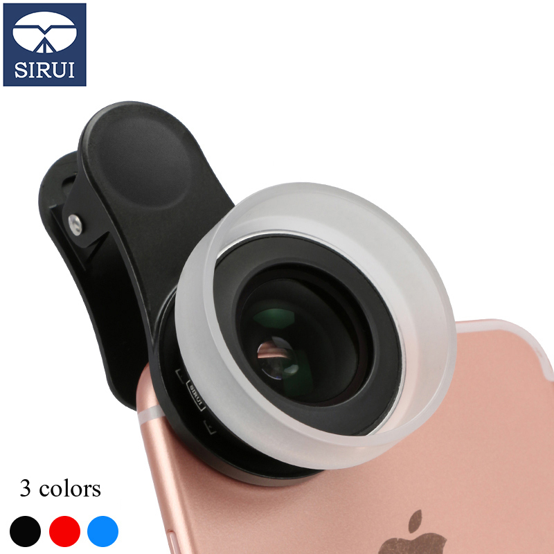 SiRui mobile phone macro lens for iphone/Huawei/OPPO and other mobile phones universal camera HD external camera lens insta360 air 3k hd 360 camera dual lens panoramic camera compact mini vr camera for samsung oppo huawei lg andriod smartphone