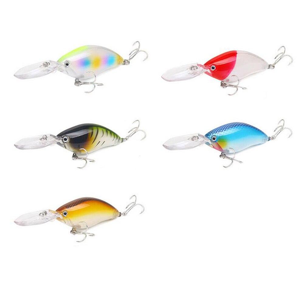 5pcs/lot Crankbait Fishing Lure 11cm 18.2g Hard Artificial Bait Deep dive 4m 3D Eyes Plastic