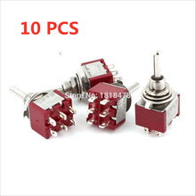 цена на 4 Pcs AC 250V 2A 120V 5A Momentary ON/OFF/ON 3 Position 6 Pins DPDT Toggle Switch