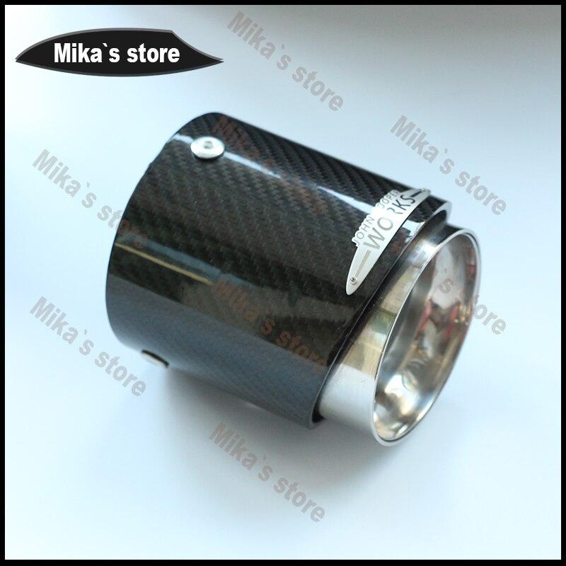 Vente chaude Pour Mini Cooper voiture-style fiber de carbone tuyaux d'échappement Silencieux approprié pour R55 R56 R60 R61 F55 F56 F54 de voiture d'échappement