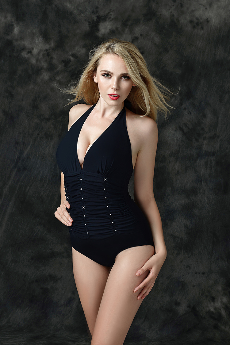 2016 New Fashion Sexy Black One Piece Swimwear Women Bathing Suit Hot XXXL 4XL 5XL Swimsuit Beach Swim Suits High Waist Swimsuit one piece swimsuit cheap sexy bathing suits may beach girls plus size swimwear 2017 new korean shiny lace halter badpakken