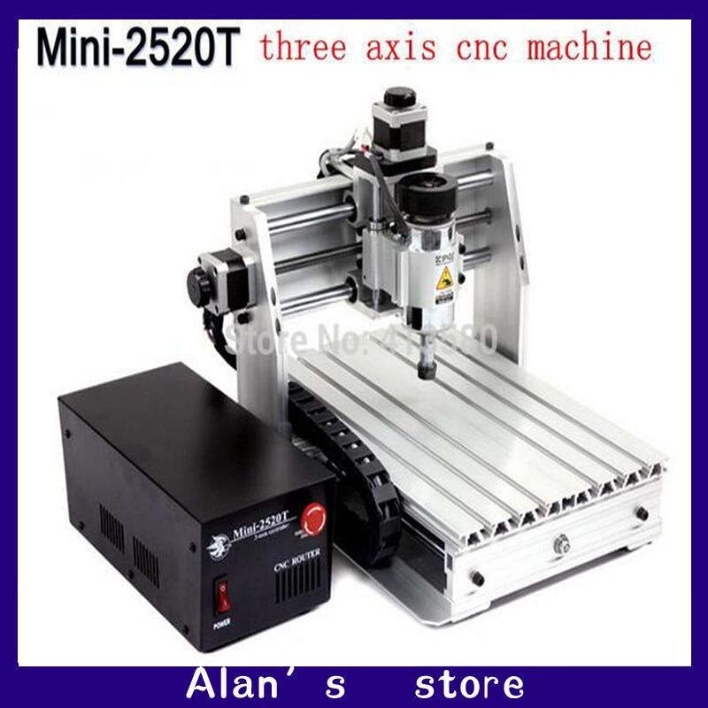 Mini CNC 2520T Triaxial Engraving Machine, DIY Small CNC Machine Tools, Small Engraving Machine Engraving Machine Accessories