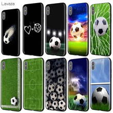 Lavaza Voetbal Voetbal Case voor iPhone 11 Pro XS Max XR X 8 7 6 6S Plus 5 5s se(China)