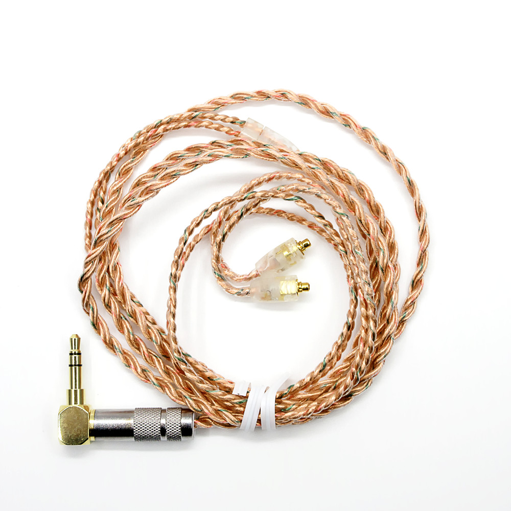 Newest 256 Cores 1 2M Single Crystal Copper Earphone Cable HiFi Headset Line Upgrad Cable For