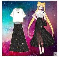 Anime Sailor Moon Crystal Largo Trajes de Cosplay Falda Verano de Las Mujeres Lindas/Niñas Faldas Aino Minako Cos Estudiante Ocasional Faldas nueva