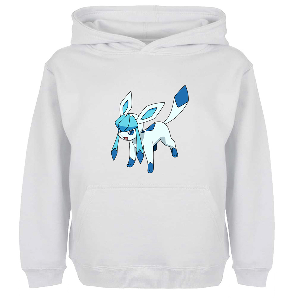 Cute Pokemon Glaceon Leafeon Graphic Hoodie Men Women Boy Girl Anime Cotton Unisex Sweatshirts Cosplay Family Hoody Jackets