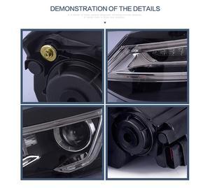 Image 4 - Luz para parachoques delantero de Polo luz LED trasera para lente de polo DRL, haz doble HID de xenón, 2011, 2012, 2013, 2014, 2015, 2016