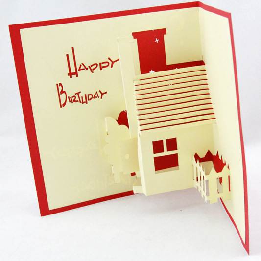 Qubiclife 3d stereo housing manor birthday card paper wholesale qubiclife 3d stereo housing manor birthday card paper wholesale custom creative blessing bookmarktalkfo Image collections