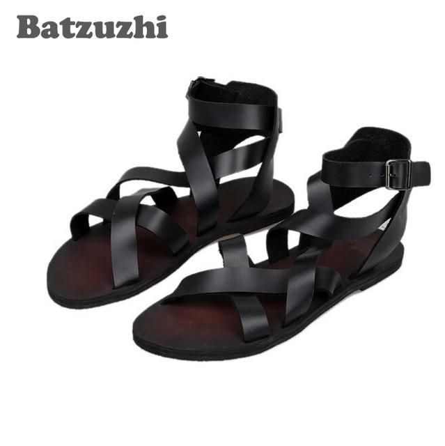 eca8bbf925c1 2018 New Handsome Man Shoes Sandalias Cool Summer Leather Sandals Fashion  Man Sandals   Flip Flops