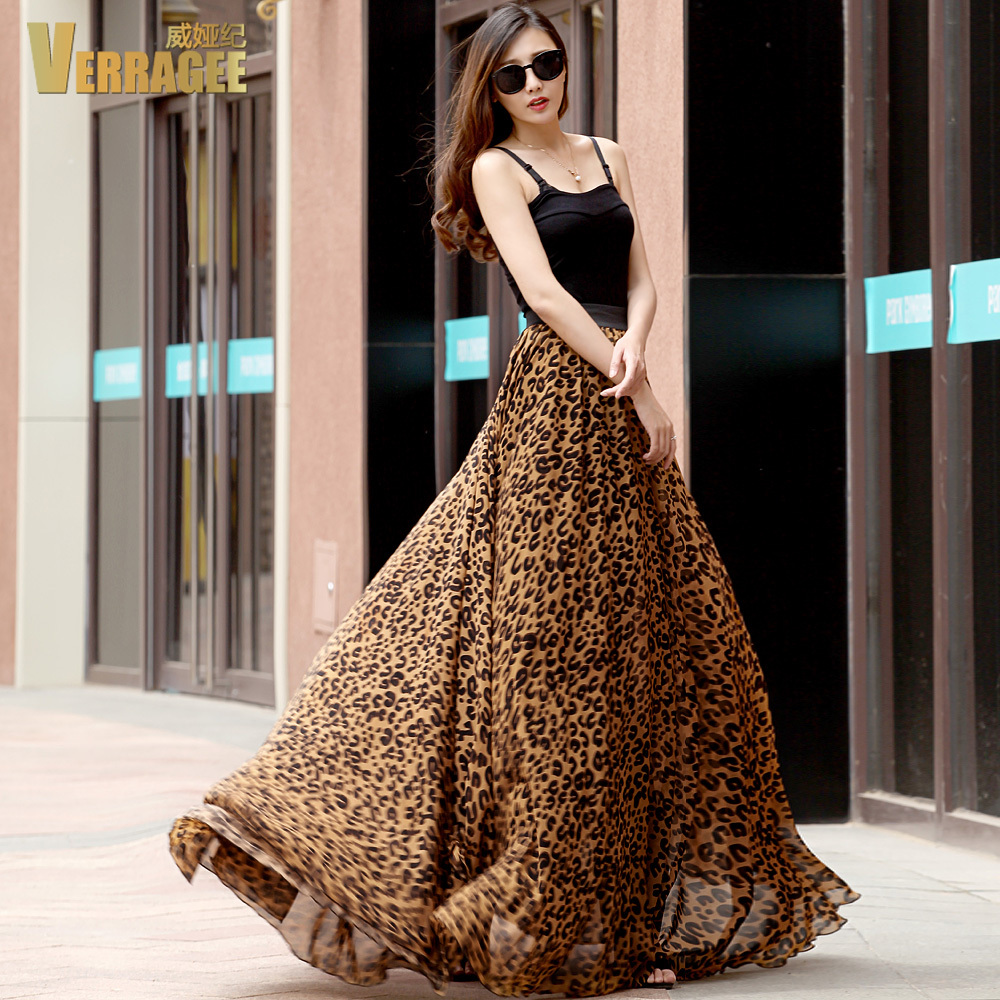 Aliexpress.com : Buy 2017 New fashion chiffon long skirt high ...