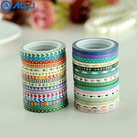 AAGU 32pcs Lot Skinny Pineapple Colorful Star Red Heart Washi Tape Set Single Sided Adhesive Masking