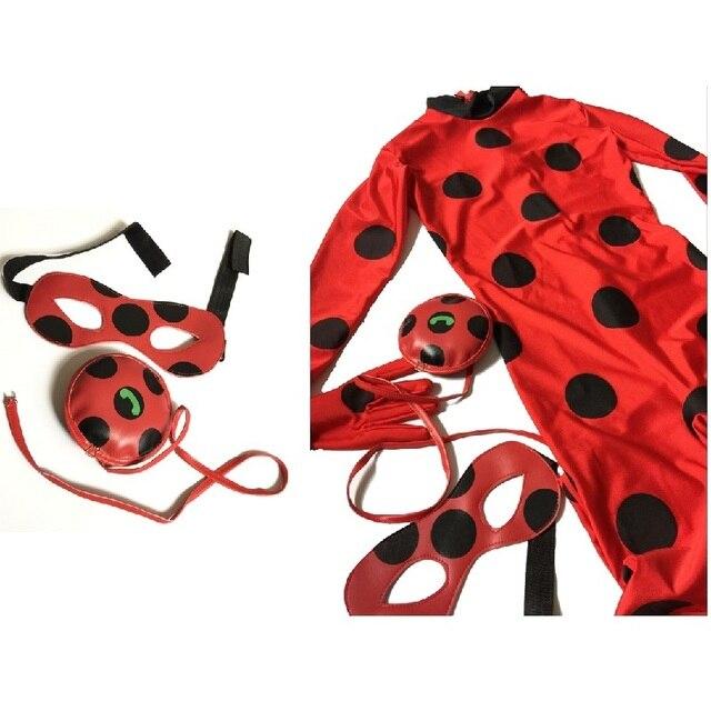 Boneca lady bug costumi di halloween coccinella pagliaccetto bambini  costume di cosplay maschera ragazza delle ragazze fe5cabe084ac
