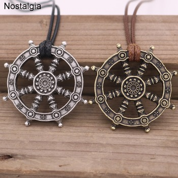Nostalgia Wheel Of Life Samsara Buddhist Talisman And Amulet Pendant Buddha Necklace Dharma Religious Indian Jewelry